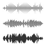 Set of vector audio scales. Stock Photography