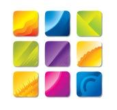 Set of vector backgrounds. Vector illustration - a set of brightly colored backgrounds vector illustration