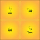 Set of vector backgrounds with beer signs Royalty Free Stock Photography