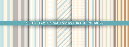 Set of vector wallpaper pattern vector illustration
