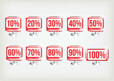 Set of vector badges Royalty Free Stock Images