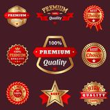 Set of vector badges shop product sale best price stickers advertising tag symbol discount promotion vector illustration. Set of vector badges shop product sale Stock Photography