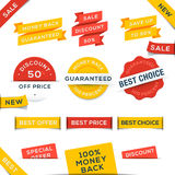 Set of vector badges and stickers Stock Images