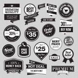 Set of badges and stickers for sale Royalty Free Stock Images