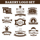 Set of vector bakery logo Stock Images