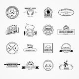 Set of vector bakery logos Royalty Free Stock Image