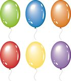 Set of vector balloons Royalty Free Stock Images