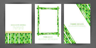 Set of vector bamboo frame. Illustrations can be used in design of brochures, booklets, covers, banners and other things stock illustration