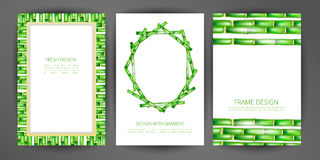 Set of vector bamboo frame. Illustrations can be used in design of brochures, booklets, covers, banners and other things royalty free illustration