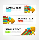 Set of vector banners Royalty Free Stock Images