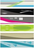 Set vector banners Royalty Free Stock Photos