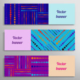 Set of vector banners with abstract geometric Stock Photo
