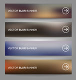 Set of vector banners blurry Royalty Free Stock Images