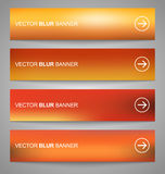 Set of vector banners blurry. Set of vector orange blurry banners for web design Vector Illustration