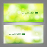Set of vector banners with bokeh Stock Images