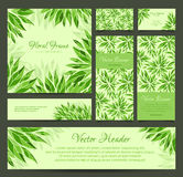 Set of vector banners, business card, frame and headers Royalty Free Stock Image