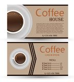 Set of vector banners with coffee. Royalty Free Stock Photography