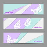 A set of vector banners Stock Photo