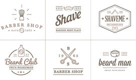 Set of Vector Barber Shop Elements Stock Photography