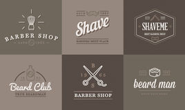 Set of Vector Barber Shop Elements Royalty Free Stock Images
