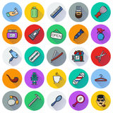 Set of Vector Barber Shop Elements. And Shave Shop Icons Illustration can be used as Logo or Icon in premium quality Stock Photos