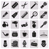 Set of Vector Barber Shop Elements. And Shave Shop Icons Illustration can be used as Logo or Icon in premium quality Stock Photography