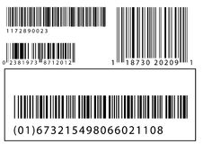 Set of vector barcodes Stock Photos