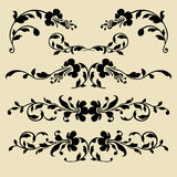 Set of vector baroque borders for design Royalty Free Stock Image