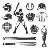 Set of vector baseball icons Stock Images