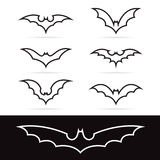 Set of vector bat icons Stock Images