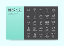 Set of Vector Beach Sea Bar Elements and Summer can be used as L Stock Photos