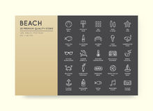 Set of Vector Beach Sea Bar Elements and Summer can be used as L Royalty Free Stock Images