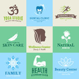 Set of vector beauty and health logo, icons and design elements Royalty Free Stock Images