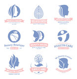 Set of vector beauty and health logo, icons and design elements Stock Images