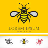 Set of vector bee icons Royalty Free Stock Photography