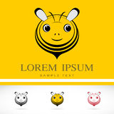Set of vector bee icons Stock Images