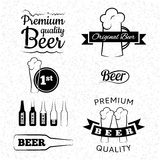 Set of vector beer icons, labels and signs. Set of beer labels for your design stock illustration