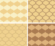 Set of  vector beige patterns - geometric textures Stock Photo