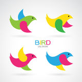 Set of vector bird design icons Royalty Free Stock Photography