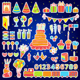 Set of vector birthday elements Stock Photography