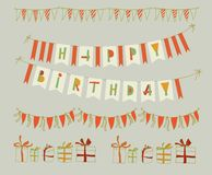 Set of vector birthday party elements. Eps 10 Stock Photography