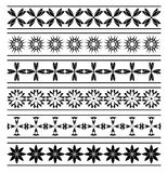 Set of  vector black elements of borders Royalty Free Stock Images