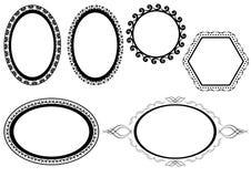 Set of vector black frames Stock Photos