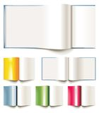 Set of vector blank books, brochures or magazines royalty free illustration