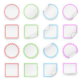 Set of vector blank stickers. Design templates. Stock Images