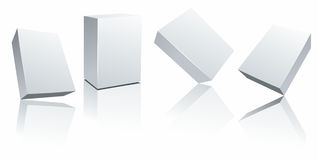 Set vector blank white boxes on white Royalty Free Stock Images