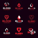 Set of vector blood donation conceptual illustrations. Hematology themeÑŽ. Set of vector blood donation conceptual illustrations. Hematology theme, medical royalty free illustration