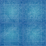 Set of Vector blueprints with city topography. Vector illustration Stock Photo