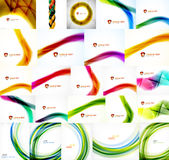 Set of vector blurred wave abstract backgrounds Royalty Free Stock Images