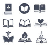 Set of vector book icons. Stock Photography